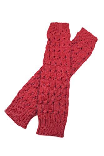 Yacun Les Femmes Longues Chaussettes Hiver En Jambières Botte Couvrir Red