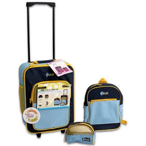 Amazon.com | UltimateGifts Kids Carry-On Luggage - Blue, Yellow ...