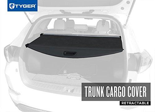 Black Cargo Cover - Tyger Auto TYGER Trunk Cargo Cover for 2016-2018 Hyundai Tucson (Black Color)
