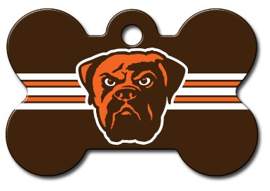 Cleveland Browns Engravable Pet I.D. Tag - Bone by Quick Tags