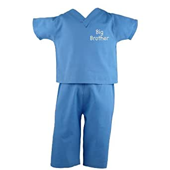 "Scoots Toddler Scrubs ""Big Brother"", Blue, 2T"