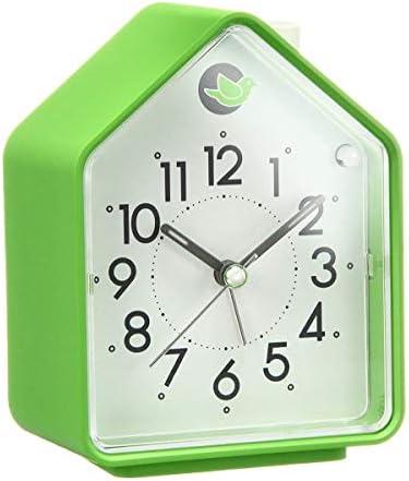 かわいいミュートファッション子供の時計クリエイティブ人格漫画居眠り寝室の学生田舎風の木目シンプルなデジタル小さな目覚まし時計