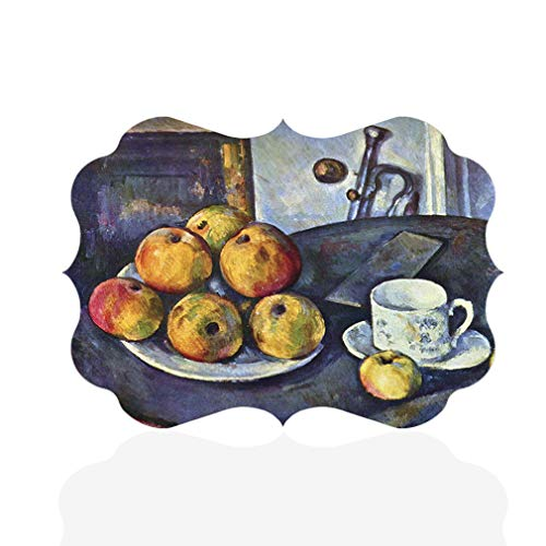 Oranges Apples Cezanne And - Sign Destination Aluminum Metal Wall Decor Cezanne Apples and Oranges Style B Horizontal Classical Image Photo Print Wall Art - Benelux Shape, 12
