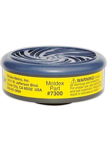 Moldex M7300 7000 and 9000 Series Cartridge, Organic Vapor Acid (Bag of 2) by Moldex