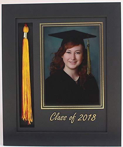 (3art Graduation Tassel 5x7 Picture Frame Black 2018 (Customizable))