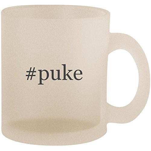 #puke - Hashtag Frosted 10oz Glass Coffee Cup Mug