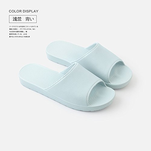 Stay Blue summer male indoor home slippers Deodorization girls 39 fankou and slip bath a Light couples slippers anti shower couple 38 bath dCtnxwTq1