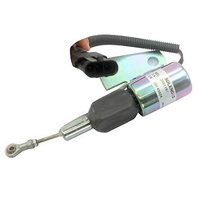 3964627 3991167 SA-4941-12 12V Stop Solenoid Valve - SINOCMP Cut Down Solenoid for Cummins 4BT Case 550h Dozer Diesel Engine Shutdown Solenoid 3 Month Warranty: Automotive