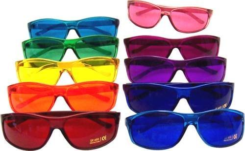 Color Therapy Glasses Pro Style Set of 10 Colors [Also Available in Set of 7 or 9] by BioWaves