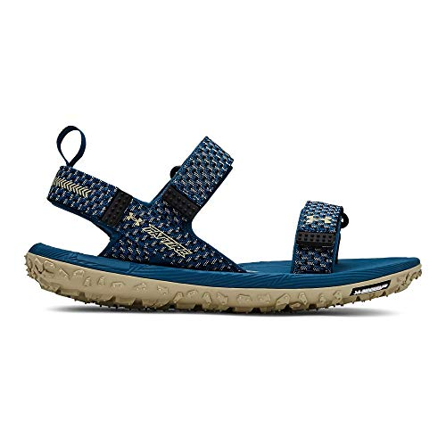 Under Armour Men's Fat Tire Slide Sandal, Petrol Blue (401), 10 M US (Michelin Tire Man)