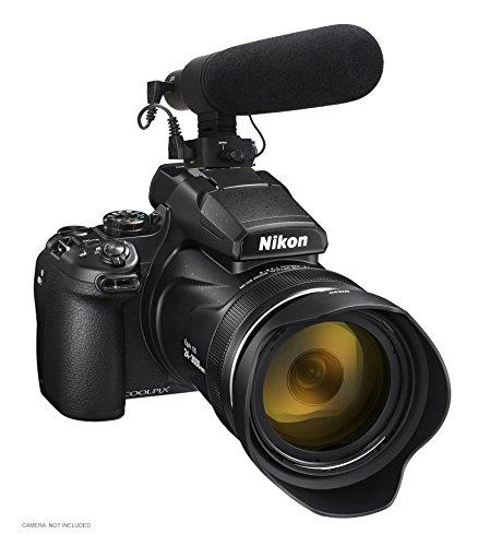 Nikon COOLPIX P1000 Advanced Super Cardioid Microphone (Stereo/Shotgun) with Dead Cat Wind Muff ()