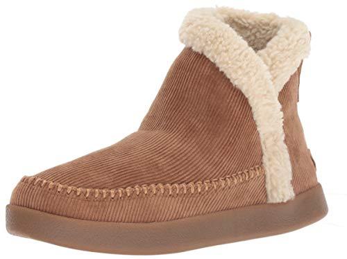 Sanuk Women's Nice Bootah Corduroy Ankle Boot Tobacco Brown 06 M US -