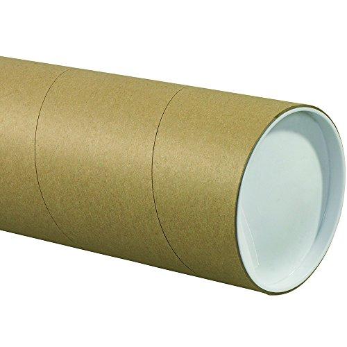 Aviditi P5024KHD Jumbo Mailing Tubes, 5'' x 24'', Kraft (Pack of 15) by Aviditi