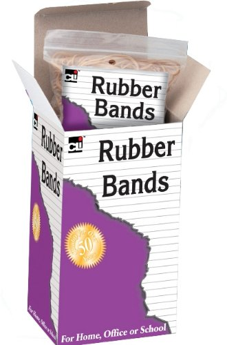 Charles Leonard Rubber Bands, 4 Individual 1/4 Pound Heat-Sealed Bags, #32 Beige, 1 Pound (56432)