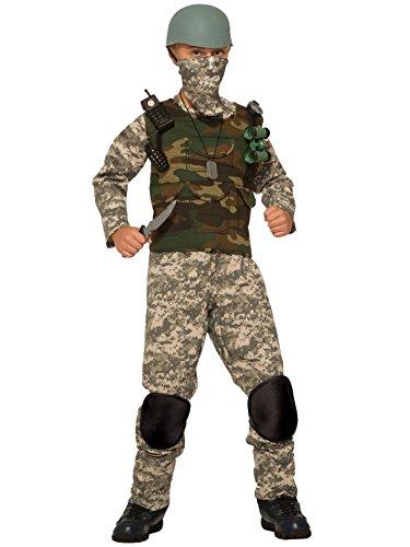 Forum Novelties Combat Trooper Child's Costume, Medium, Multicolor
