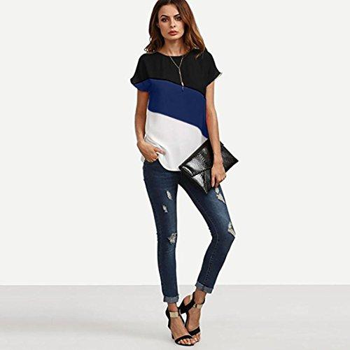 Femme T Tunique T Haut Marque Shirts Fonc Femme Bleu en Top Chemisier Mousseline Tee Tee Originaux Longra Shirt Shirt Femme Courte Femme t Femme Shirt Originaux Mode Shirt T Femme qaTHwp8