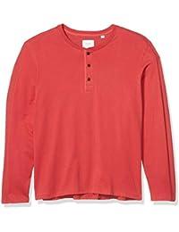 Men's Long Sleeve Plaited Rib Henley