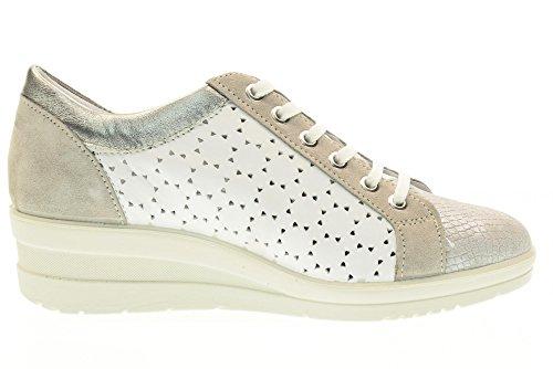 00 Baskets Soft Argent Enval Avec 79582 Chaussures Femme Coin 0RdwC5q