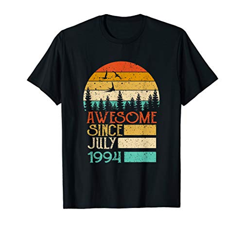 Awesome Since July 1994 25th Birthday gift 25 years old tee (Birthday Gift Ideas For 25 Year Old Female)