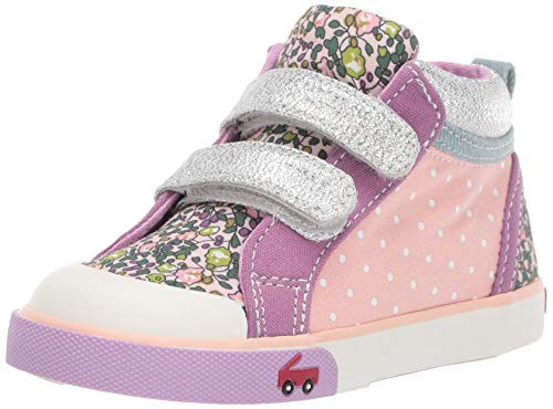 See Kai Run Girls' Kya Sneaker, Pink/Purple, 10.5 M US Little Kid