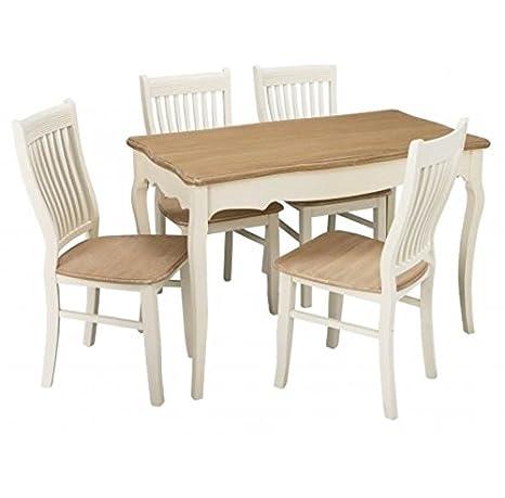 Tavolo da pranzo in stile shabby chic francese antico mobili da ...