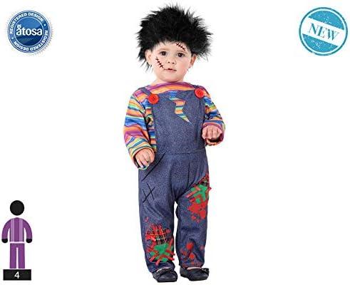 Atosa-61253 Atosa-61253-Disfraz Muñeco-Bebé niño, Color gris, + 24 ...