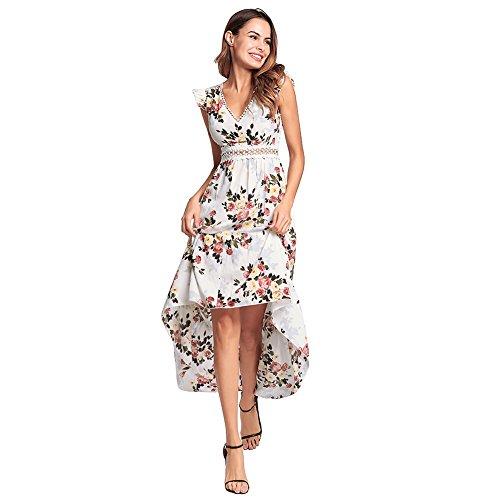 abito halter Dovetail immortale manica FXFAN irregolare volano abito donna Bianca volare Abbigliamento principessa donne bellezza qPzp8wA
