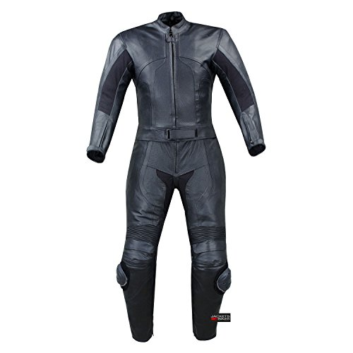WOMENS 2PC 2 PC MOTORCYCLE LEATHER RACING SUIT ARMOR XL