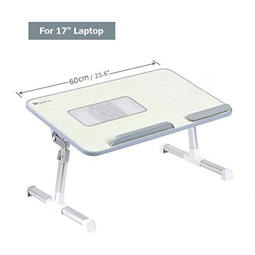 verde Supporto pieghevole per computer regolabile in altezza Xgear Portable inclinando vassoio Lapdesk per un massimo di 17 notebook PC