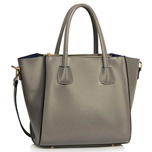 TrendStar Bolso de piel para mujer A - Grey