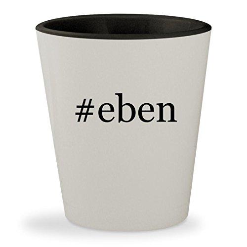 #eben - Hashtag White Outer & Black Inner Ceramic 1.5oz Shot Glass