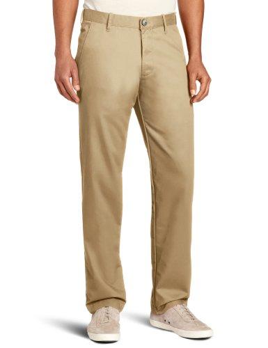 Haggar Men's Life Khaki Slim Fit Flat Front Chino Casual Pant,Khaki,34x29 (Khaki Mens Pants Life)
