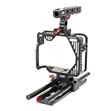 Camtree Hunt CNC DSLR Handheld Camera Cage with Tripod Mount plate For Canon 5D MARK II, III & IV MK2 MK3 MK4 (CH-5234-RS)