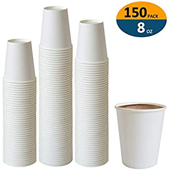 Paper Cups, 150 Pack 8 Oz Paper Cups, Paper Coffee Cups 8 Oz, Hot Cups Paper Coffee Cups Paper Cups 8 Oz Water Paper Cups Paper Coffee Cups 8 Oz Coffee Cups 8 Oz Paper Cups Water Cups Paper Cups