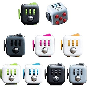 Fidget Cube Stress (2.2 cm) & Anxiety Reliever for Children and Adults - Helpful in Improving Focus (Random Color)
