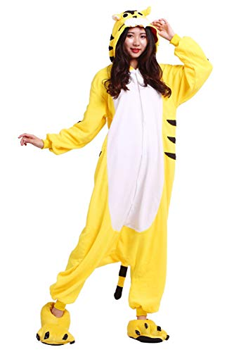 Unisex Tiger Pijamas Disfraz Cosplay Adulto Kigurumi Amarillo Animales YxxF7q4