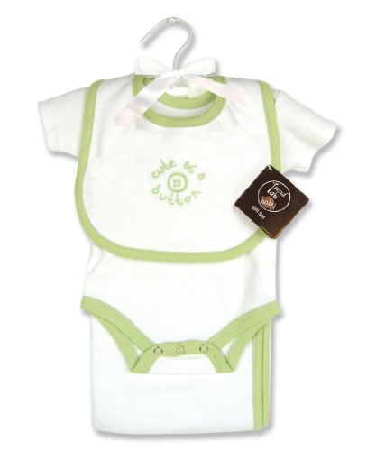 Trend Lab Cute As A Button 4 Piece Layette Gift Set