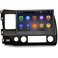 SYGAV Android 7.1.1 Nougat Car Stereo 2G RAM for 2006-2011 Honda Civic Radio 10.2 Inch Touch Screen GPS Sat Navigation Audio FM AM LCD Monitor Head Unit