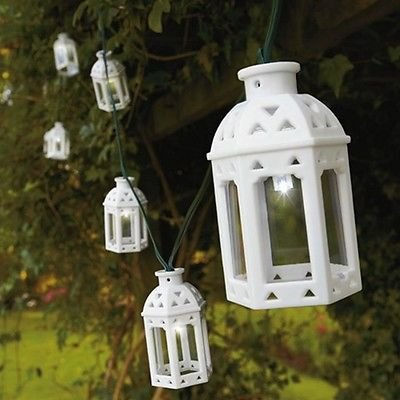 Green Your Decor Peacock Costume (10 LED Solar Powered Moroccan Lantern Garden String Lights)