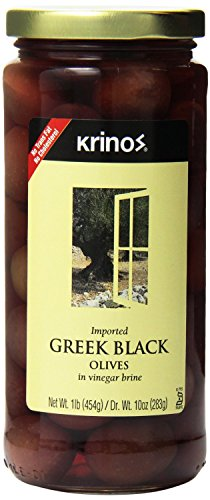 Black Olives in Brine 16 Ounces (Case of 6) - Greek Black Olives