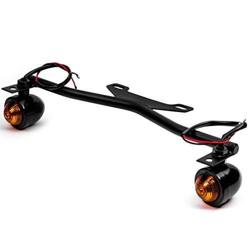 Krator Black Driving Passing Lamp Spot Light Bar Bracket with Turn Signals Motorcycle for Yamaha V-Star Vstar V Star XVS 1100 Custom (Yamaha Passing Lamps)
