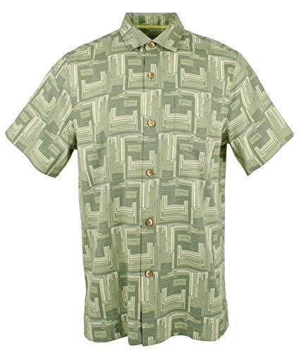 Tommy Bahama Men's Mayan Maze Silk Blend Camp Shirt-GF-M