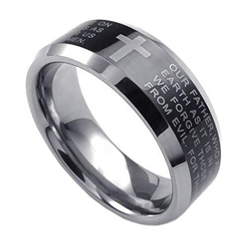KONOV Tungsten English Prayer Silver