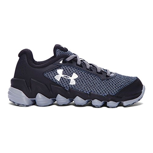 71a66bc5206ff Galleon - Under Armour Kids Boy's UA BPS Spine Disrupt TCK (Little Kid)  Black/Graphite/Metallic Silver Athletic Shoe