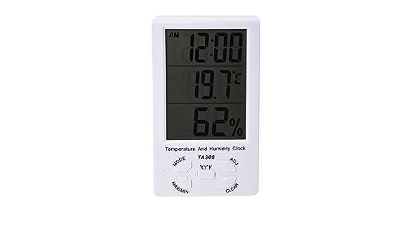 TOOGOO (R) LED Pantalla Termometro Higrometro Digital Exterior Interior Jardin Patio: Amazon.es: Bricolaje y herramientas