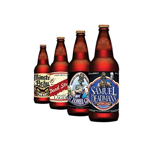 Halloween Beer Bottle Stickers (12 count) (Beer Halloween Costumes)