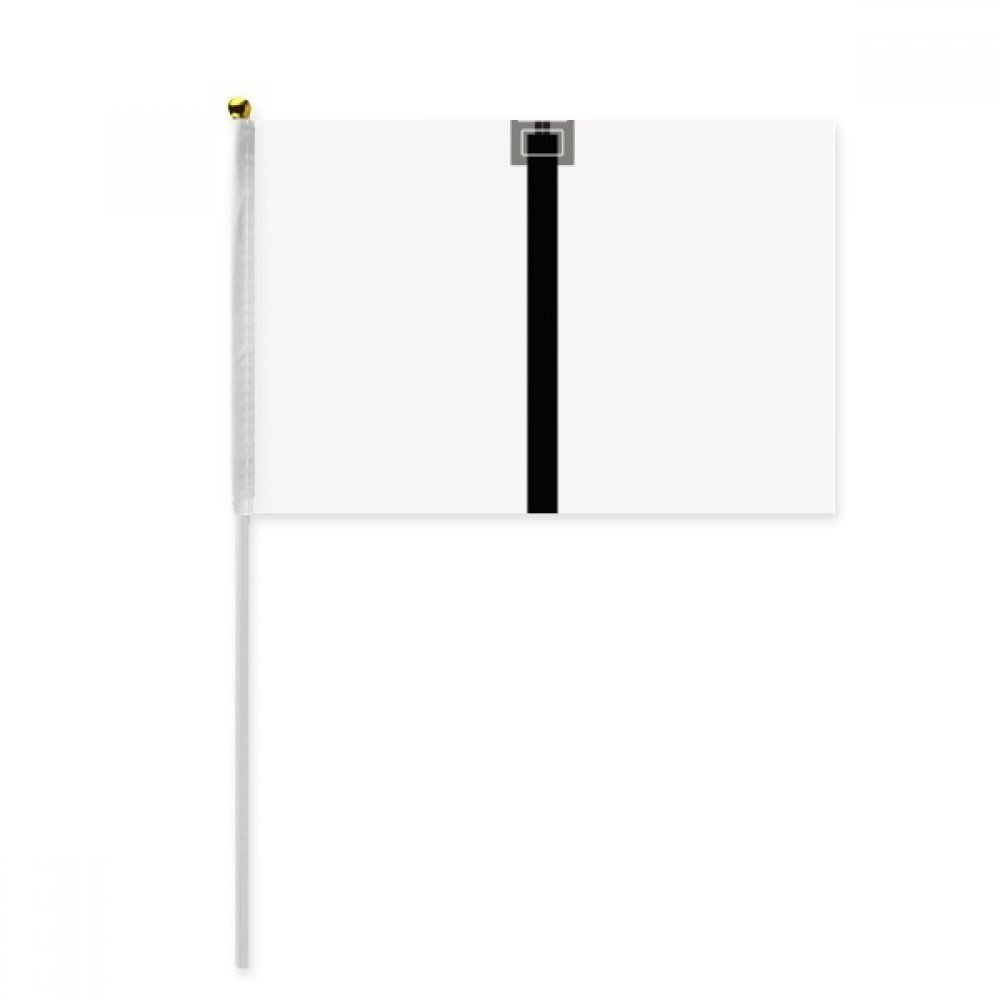 Black Internet Cable USB Plug Pattern Hand Waving Flag 8x5 inch Polyester Sport Event Procession Parade 4pcs