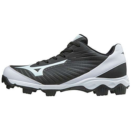 Mizuno (MIZD9) Men's 9-Spike Advanced Franchise 9 Molded Cleat-Low Baseball Shoe, Black/White, 11 D US