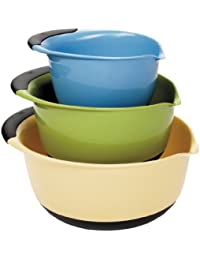Gain OXO Good Grips 3-Piece Mixing Bowl Set, Blue/Green/Yellow dispense