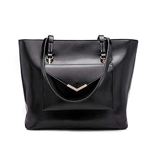 Bolsas Los Tamaño Brown 30x28x15cm Moda Negro color Bolsos Mujeres 30x28x15cm Asas Xjrhb La Las De Tamaño xYUq5Sa5